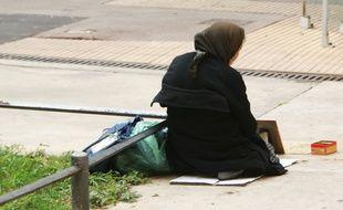 Une sans-abri, à Montpellier (illustration).
