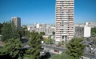 Marseille le 17 mai 2011 - La citÈ de la Busserine dans les quartiers nords de Marseille