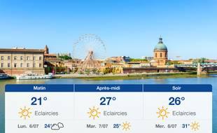 Météo Toulouse: Prévisions du dimanche 5 juillet 2020