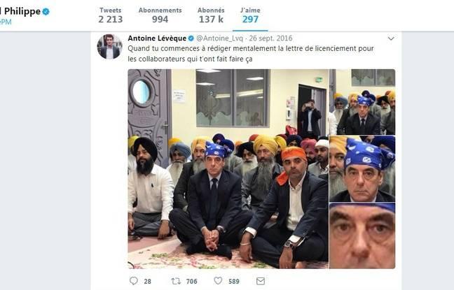 Le tweet liké par Edouard Philippe sur François Fillon.