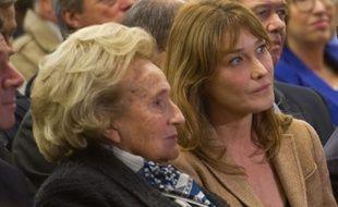 Bernadette Chirac et Carla Bruni, le 7 novembre 2014 à Paris.