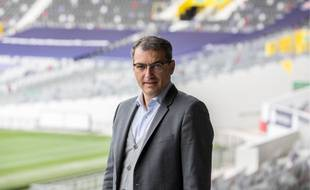Le président du TFC Damien Comolli, le 6 octobre 2020 au Stadium de Toulouse.