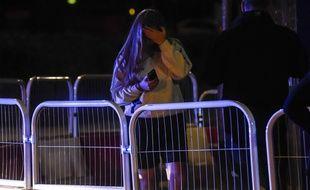 Une spectatrice du concert après lequel a eu lieu un attentat à Mnachester le 22/05/2017.Credit:Dan Rowlands/Mercury Pres/SIPA