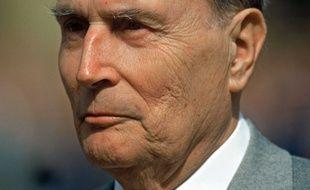 François Mitterrand, en avril 1993. Le président de la république connaît alors sa deuxième période de cohabitation.