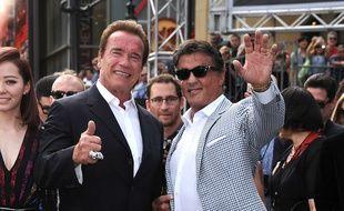 Les acteurs Arnold Schwarzenegger et Sylvester Stallone