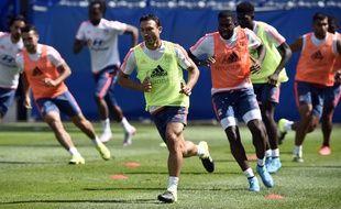 Steed Malbranque a toujours été performant dans les tests physiques durant sa carrière de footballeur professionnel, comme ici en juillet 2015 avec l'OL.