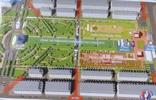 Cette Fanzone fera 130.000 m², soit l'équivalent de 30 terrains de football.