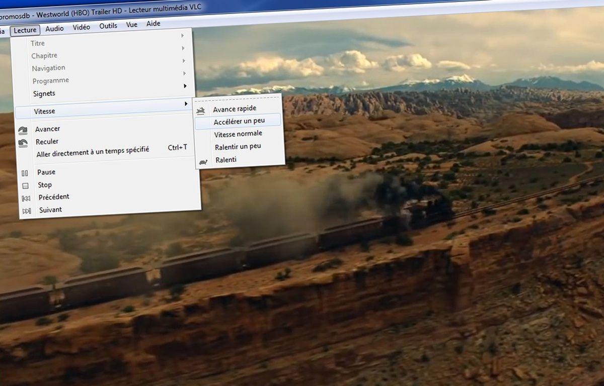 On peut moduler sa vitesse de lecture sur VLC. – Capture d'écran/YouTube/VLC