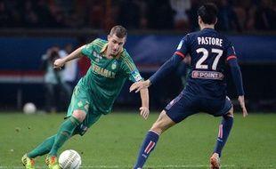 François Clerc lors du match entre Saint-Etienne et Paris le 18 décembre 2013.