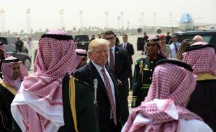 Donald Trump en voyage officiel en Arabie Saoudite à Riyad, le 22 mai 2017.