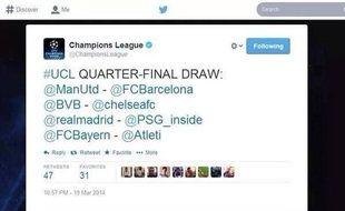 Le faux tirage au sort des quarts de finale de la Ligue des Champions 2013-2014