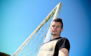 Quentin Westberg, le gardien de but de Luzenac, le 17 avril 2014.
