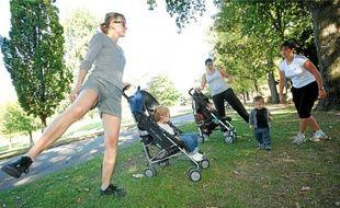Les cours de sport se déroulent en plein air, comme ici au parc de Procé.