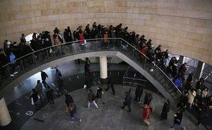 Les Parisiens bloqués dans le métro le 10 décembre 2019.