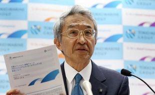 Le président de la compagnie d'assurances japonaise Tokio Marine Holdings, Tsuyoshi Nagano, à Tokyo le 10 juin 2015