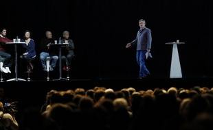 Melenchon en meeting holographique à Paris