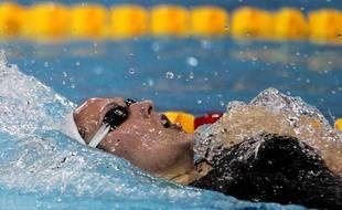 La nageuse française Alexiane Castel, lors de sa victoire aux championnats du monde de Dubaï, en petit bassin, le 17 décembre 2010.