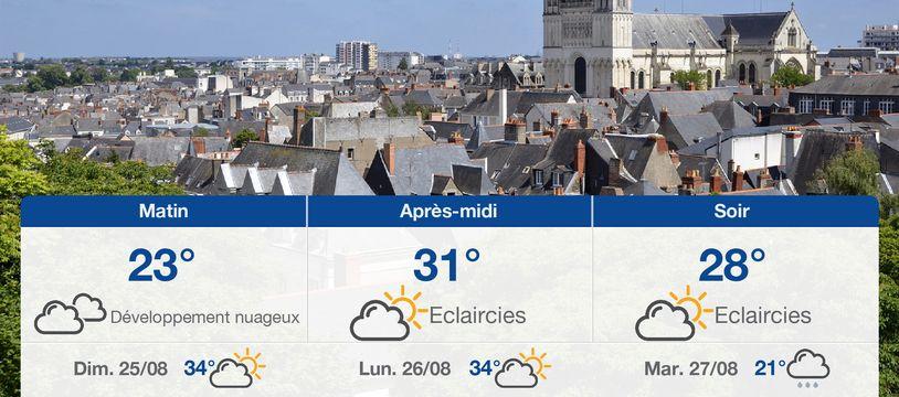 Météo Angers: Prévisions du samedi 24 août 2019