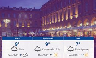 Météo Toulouse: Prévisions du vendredi 17 janvier 2020