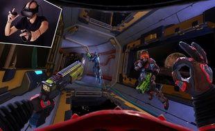 Space Junkies, future bombe de réalité virtuelle d'Ubisoft, à tester à Montpellier.