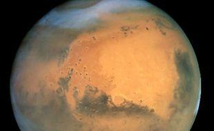 La planète Mars en 2001, vue par le télescope Hubble.