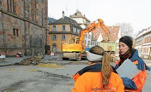 Trois fosses ont été creusées.