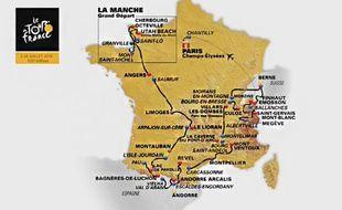 Le parcours du Tour de France 2016.