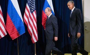 Barack Obama et Vladimir Poutine le  28 septembre 2015