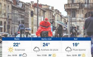 Météo Bordeaux: Prévisions du mercredi 15 septembre 2021