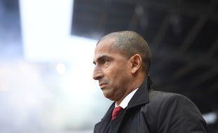 L'entraîneur du Stade Rennais Sabri Lamouchi, ici lors du match au Roazhon Park face à l'Olympique de Marseille le 13 janvier.