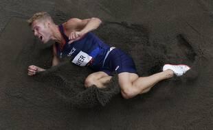 Kevin Mayer lors du décathlon des JO de Tokyo, le 4 août 2021.