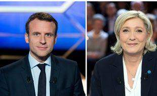 Collage Sipa/20 Minutes avec les candidats Emmanuel Macron (En Marche!) et Marine Le Pen (FN)