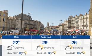 Météo Bordeaux: Prévisions du vendredi 19 juillet 2019
