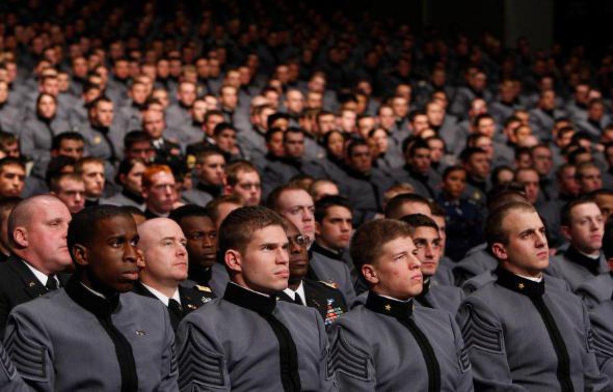 Des cadets de l'école militaire de West Point, le 1er décembre 2009, alors qu'Obama dévoile son plan pour l'Afghanistan – REUTERS/J.YOUNG
