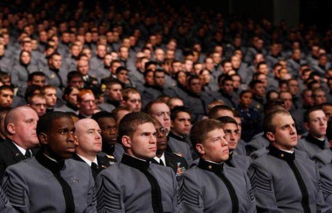 Des cadets de l'école militaire de West Point, le 1er décembre 2009, alors qu'Obama dévoile son plan pour l'Afghanistan