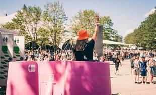 L'urinoir mobile féminin Lapee a déjà été installé dans plusieurs festivals l'été dernier.