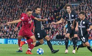 Le PSG n'a quasiment jamais existé contre Liverpool en Ligue des champions.