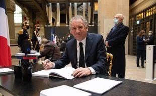François Bayrou, haut-commissaire au plan, lors de la cérémonie d'hommage à l'ancien Président Valéry Giscard d'Estaing, le 09/12/2020 (illustration)