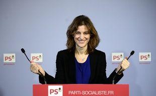 Paris, le 18 décembre 2014. Juliette Méadel, porte-parole du PS, est nommée secrétaire d'Etat chargée de l'aide aux victimes.