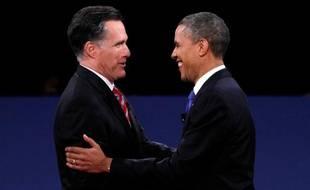 Mitt Romney et Barack Obama, le 22 octobre 2012, lors du troisième et dernier débat présidentiel.