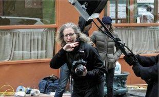 Annie Leibovitz, lors d'un shooting pour Vogue, le 30 janvier dernierà New York.