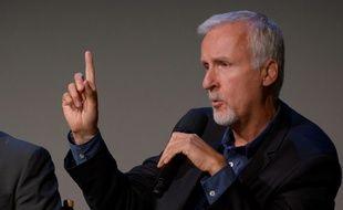 Le réalisateur James Cameron lors d'une rencontre à Manhattan