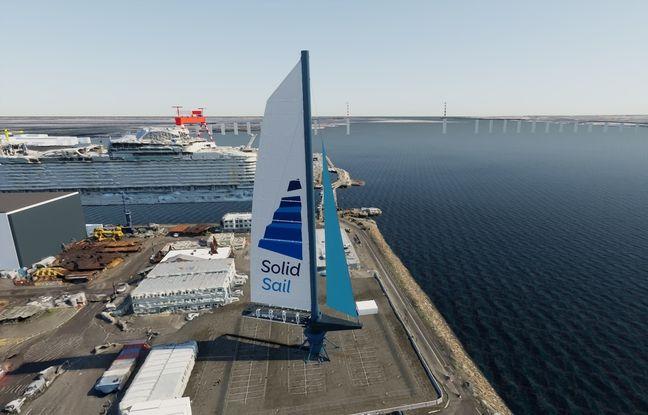 Le démonstrateur de voile Solid Sail sera installé sur le site des Chantiers de l'Atlantique en 2022.