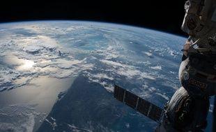La Terre vue de l'espace, depuis la station spatiale internationale.