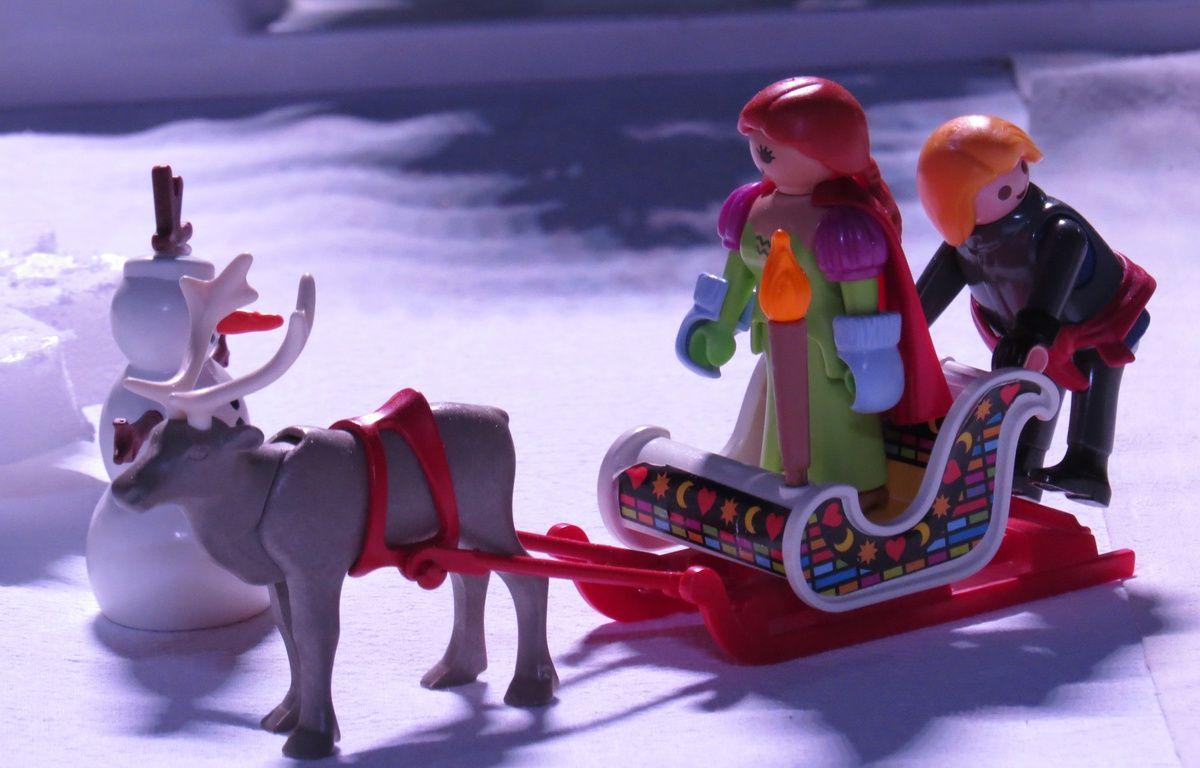 Mini World accueille jusqu'au 18 avril, une exposition consacrée aux Playmobil, à travers six films. Ici la Reine des neiges – C. Girardon / 20 Minutes