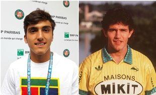 Román le joueur de tennis et Jorge le footballeur, deux générations de Burruchaga.