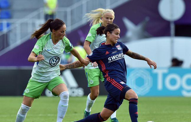 Avant de devenir championne d'Europe cet été aux côtés de Dzsenifer Marozsan, Sara Björk Gunnarsdottir s'était souvent heurtée à l'OL, avec Wolfsburg, en Ligue des champions, comme ici en finale en mai 2018.