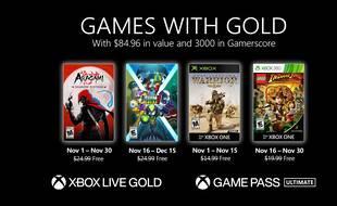 Games with Gold: voici les 4 jeux offerts sur Xbox en novembre