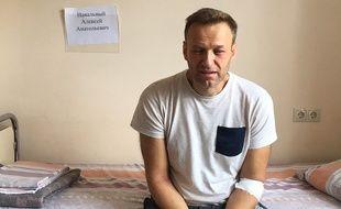 Une photo d'Alexei Navalny publiée sur son site le 29 juillet 2019 le montre sur son lit d'hôpital, à Moscou.