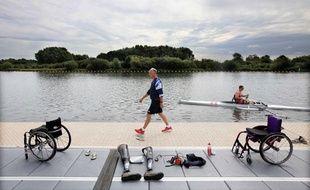 Des athlètes paralympiques anglais, le 21 août 2012